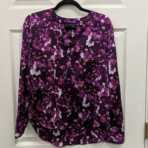 Simply Styled Purple Floral Blouse Medium